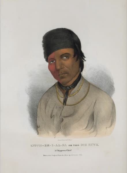The Aboriginal Port Folio - Kitch-ee-i-aa-ba or the Big Buck, a Chippewa Chief (1836)