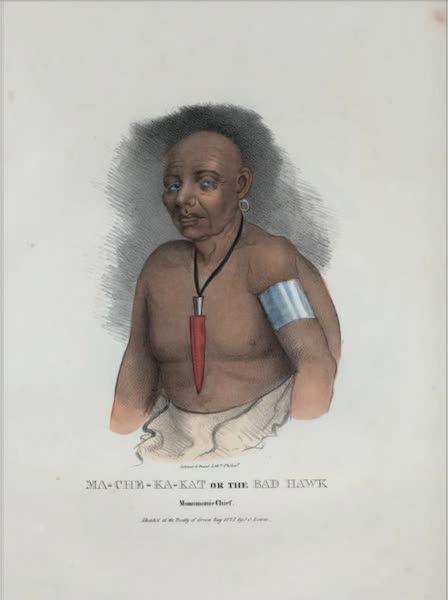 The Aboriginal Port Folio - Ma- che-ka-kat or the Bad Hawk, Monomonie Chief (1836)