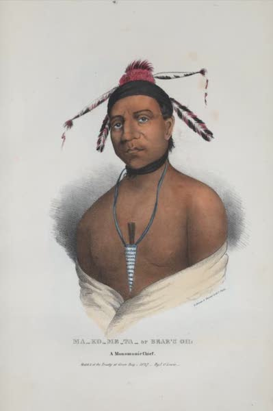 The Aboriginal Port Folio - Ma-ko-me-ta or Bear's Oil, a Monomonie Chief (1836)