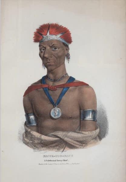 The Aboriginal Port Folio - Mauck-coo-maun, a celebrated Ioway Chief (1836)
