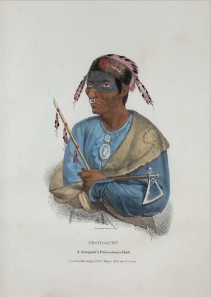 The Aboriginal Port Folio - Me-no-quet, a distinguished Pottowattomie Chief (1836)