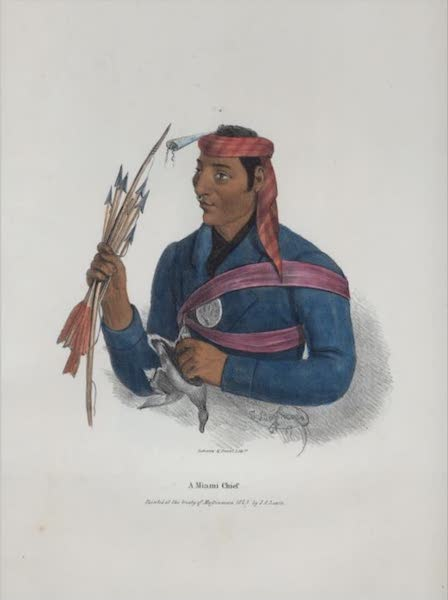 The Aboriginal Port Folio - A Miami Chief (1836)
