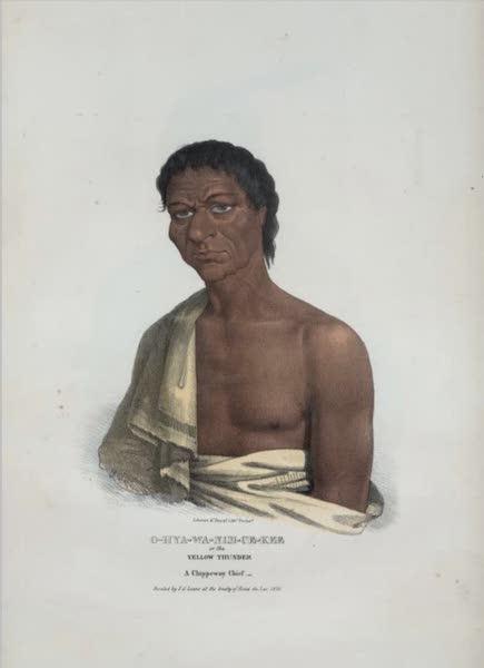 The Aboriginal Port Folio - O-hya-wa-nim-ce-kee or the Yellow Thunder, a Chippeway Chief (1836)