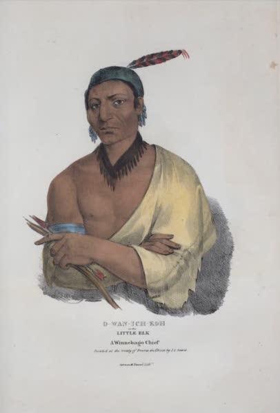 The Aboriginal Port Folio - O-wan-ich-koh or the Little Elk, a Winnebago Chief (1836)