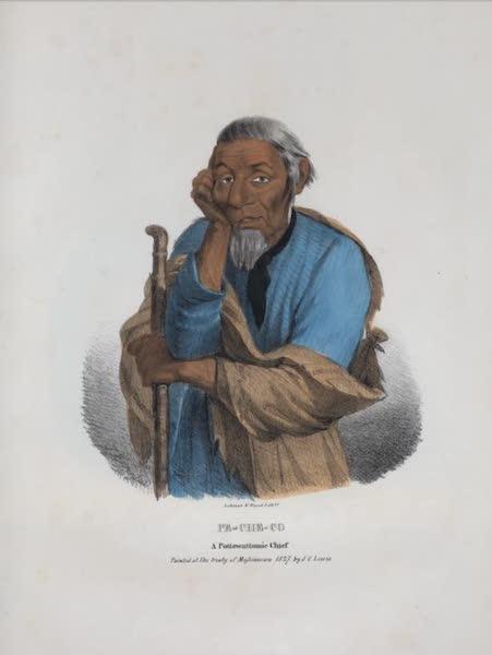 The Aboriginal Port Folio - Pe-che-co, a Pottowattomie Chief (1836)
