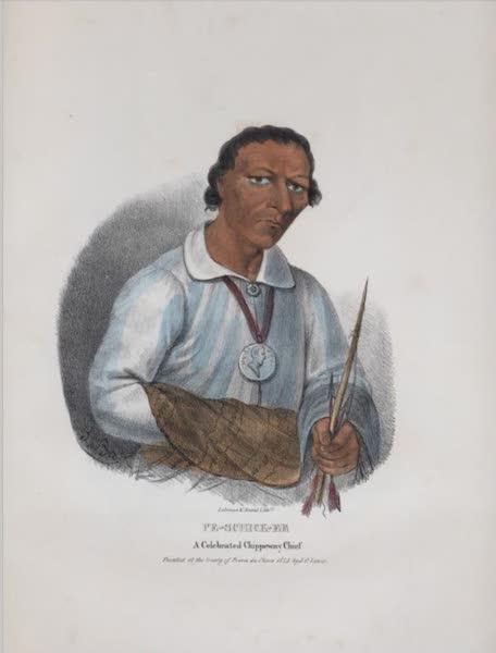 The Aboriginal Port Folio - Pe-schik-ee, a celebrated Chippeway Chief (1836)