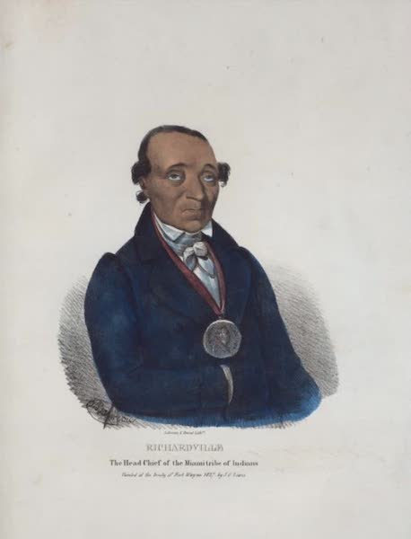 The Aboriginal Port Folio - Richardville, the Head Chief of the Miami tribe of Indians (1836)