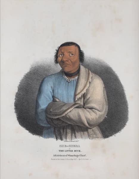 The Aboriginal Port Folio - She-sheba or the Little Duck, a celebrated Winnebago Chief (1836)