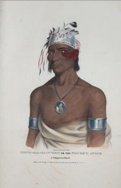 The Aboriginal Port Folio - Shing-gaa-ba-w'osin or the Figure'd Stone, a Chippewa Chief (1836)