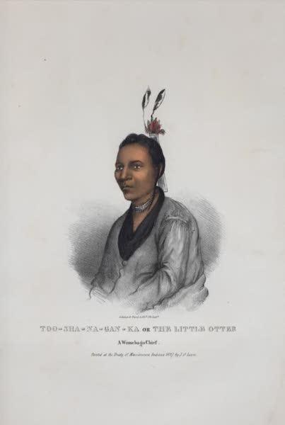 The Aboriginal Port Folio - Too-sha-na-gan-ka ot the Little Otter, a Winnebago Chief (1836)