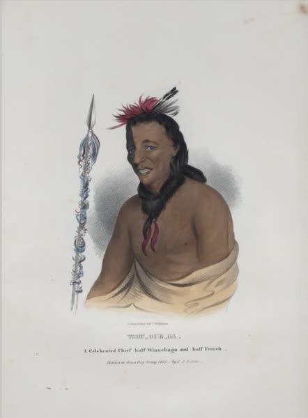 The Aboriginal Port Folio - Tshu-gue-ga, a celebrated Chief, half Winnebago and half French (1836)