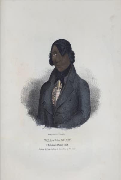 The Aboriginal Port Folio - Waa-ba-shaw, a celebrated Sioux Chief (1836)