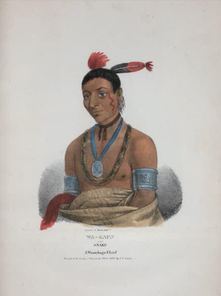 The Aboriginal Port Folio - Wa-kaun or the Snake, a Winnebago Chief (1836)