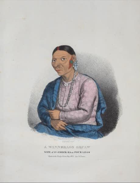 The Aboriginal Port Folio - A Winnebago squaw, wife of O'-check-ka or Four Legs (1836)