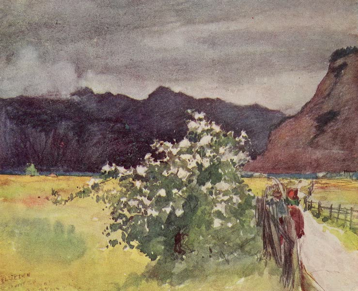 The Alps, Painted and Described - Storm coming up over Lake of Lucerne (1904)
