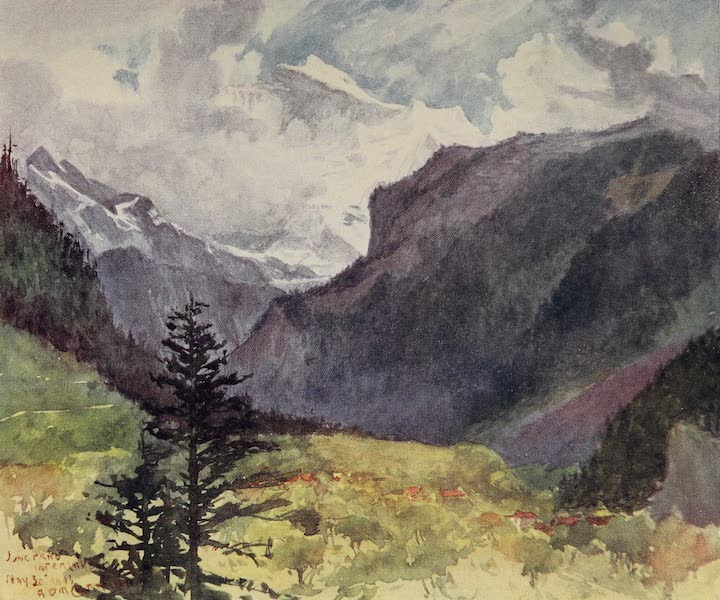 The Alps, Painted and Described - The Jungfrau from Interlaken (1904)