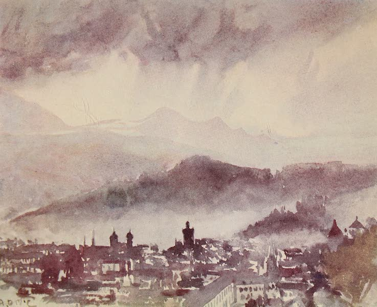 The Alps, Painted and Described - Cloud-burst over Lucerne (1904)