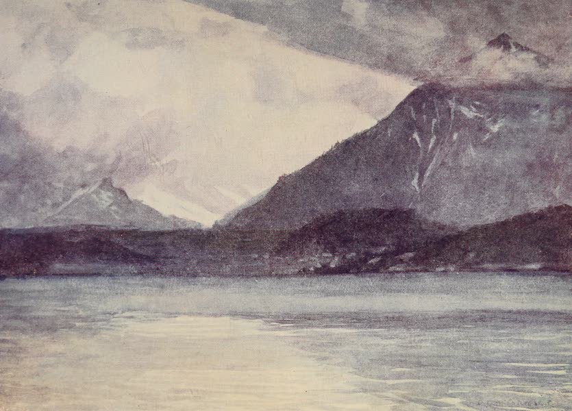 The Alps, Painted and Described - Storm Clouds over the Lake of Thun (1904)