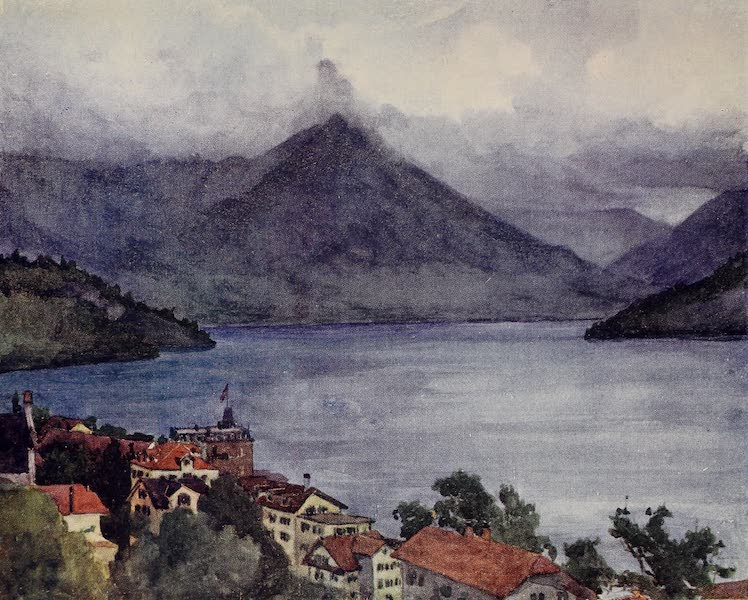 The Alps, Painted and Described - Vitznau and Lake of Lucerne (1904)