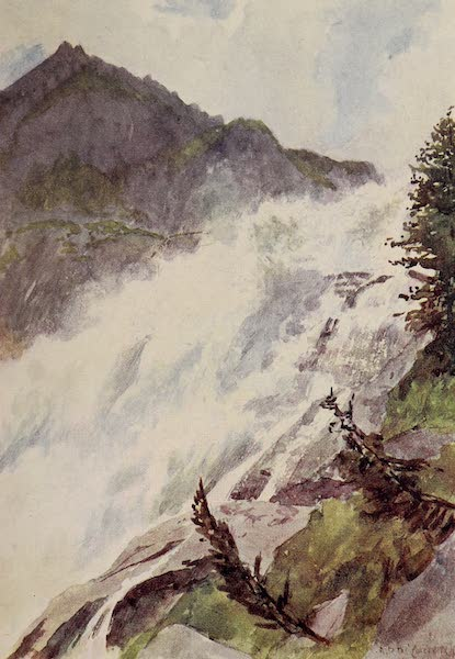 The Alps, Painted and Described - The Falls of Tosa, Val Formazza (1904)