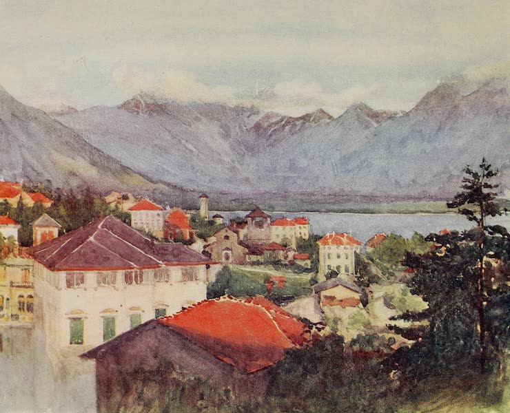 The Alps, Painted and Described - Locarno at Sunset, and North End of Lago Maggiore (1904)