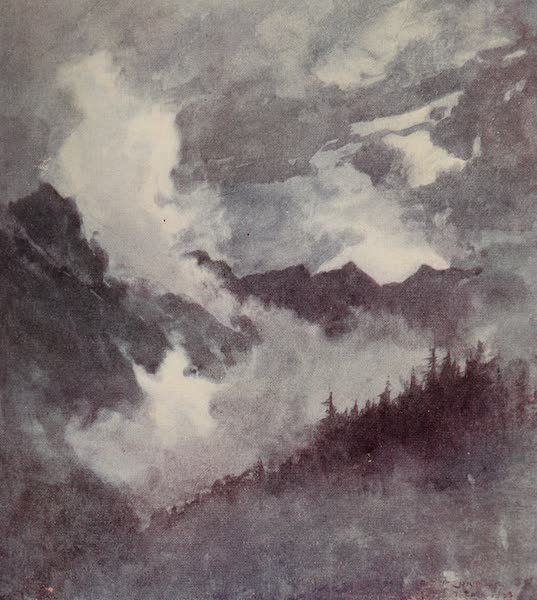The Alps, Painted and Described - Moonlight in the Val Formazzafrom the Tosa Falls (1904)