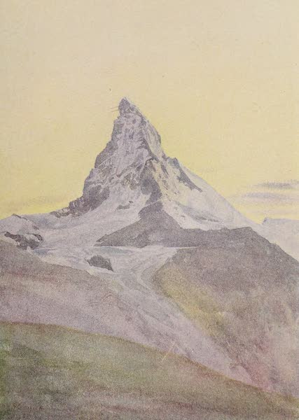 The Alps, Painted and Described - The Matterhorn, Twilight (1904)
