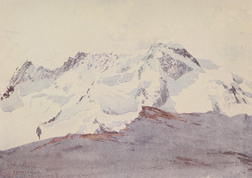 The Alps, Painted and Described - The Breitliorn from Schwarz See (1904)