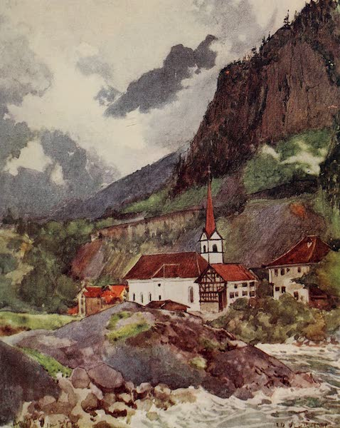 The Alps, Painted and Described - Amsteg in the Reussthal (1904)