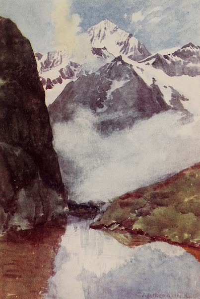 The Alps, Painted and Described - The Dent Blanche from the Riffelberg (1904)