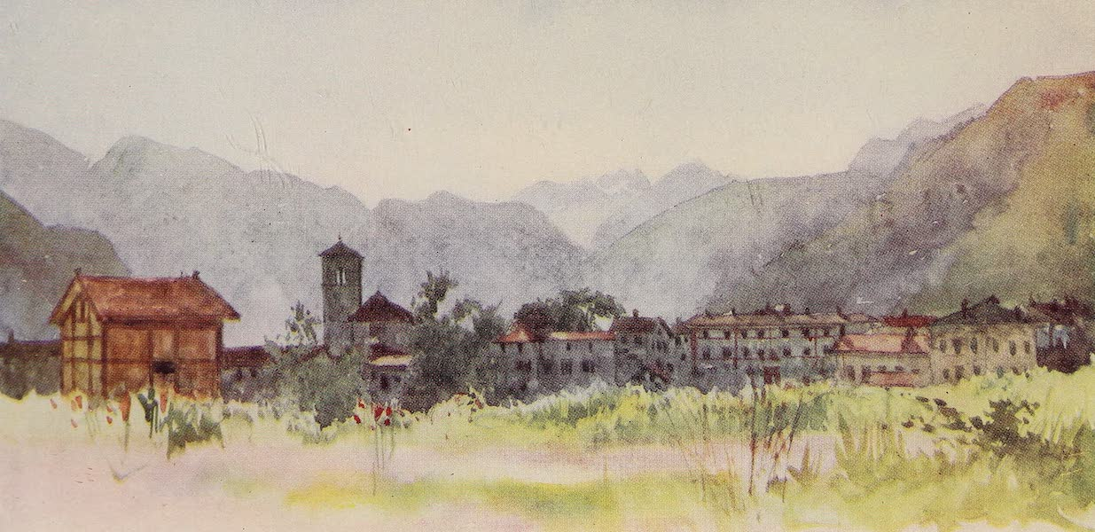 The Alps, Painted and Described - The Village of Soldimo, at the Entrance of the Val Maggia (1904)