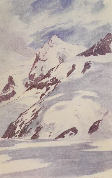 The Alps, Painted and Described - The Gletscherhorn from the Pavilion, Hotel Cathrein, close to Concordia Hut (1904)
