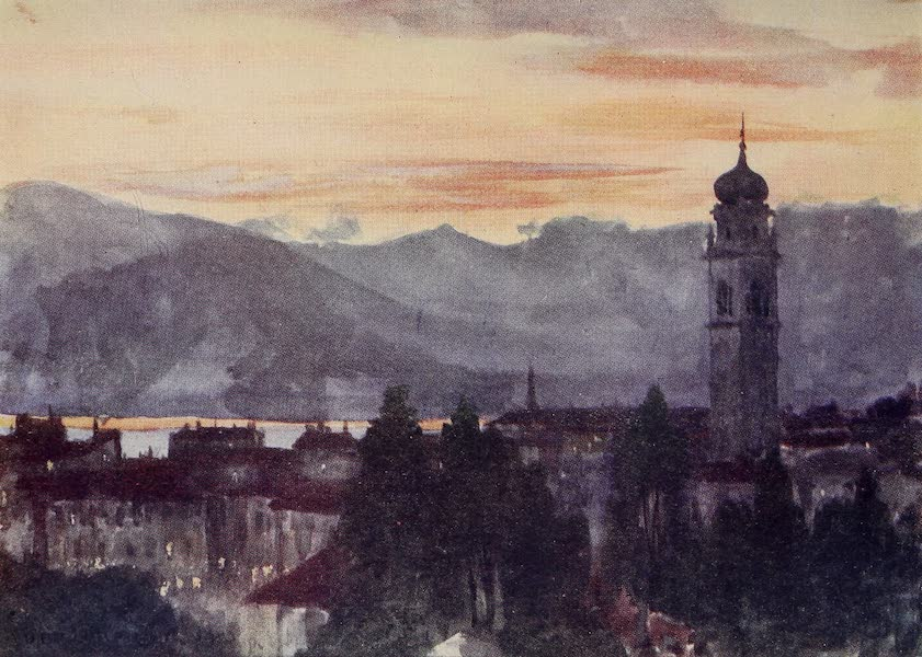 The Alps, Painted and Described - Pallanza - Sunset (1904)