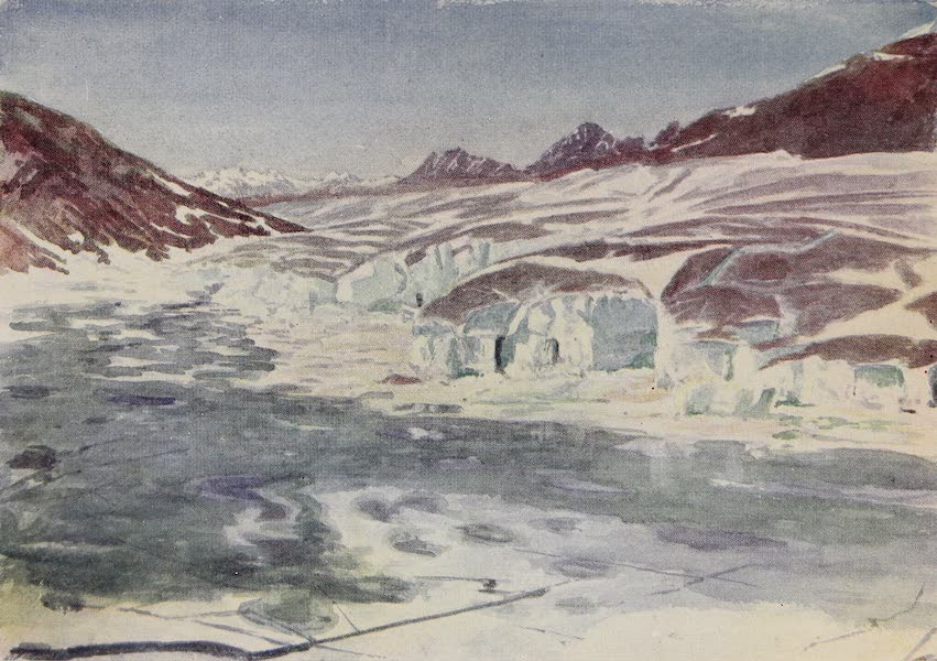 The Alps, Painted and Described - Marjelen See and Great Aletsch Glacier (1904)