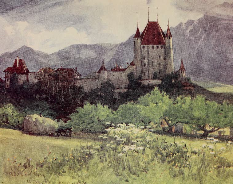 The Alps, Painted and Described - The Castle of Zahringen-Kyburg, Thun (1904)