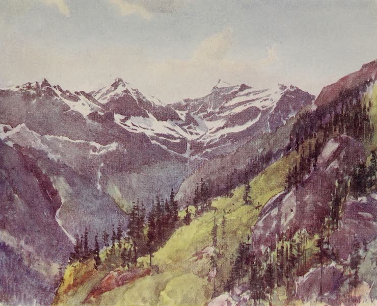 The Alps, Painted and Described - Looking down the Val Formazza from Tosa (1904)