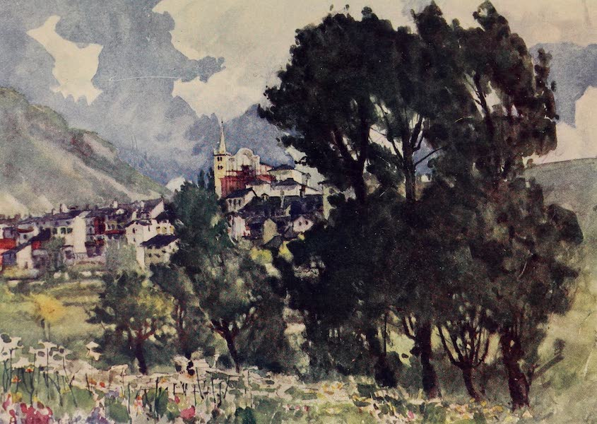 The Alps, Painted and Described - Chatillon, Val d'Aosta (1904)