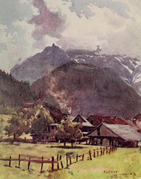 The Alps, Painted and Described - A Corner of the Town of Altdorf (1904)
