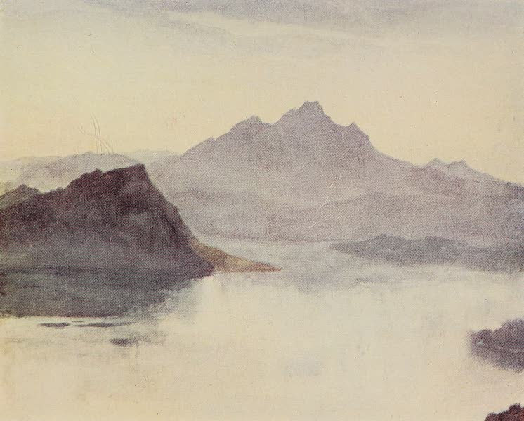 The Alps, Painted and Described - Pilatus and Lake of Lucerne from the Slopes of the Rigi (1904)
