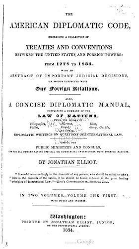 The American Diplomatic Code Vol. 1