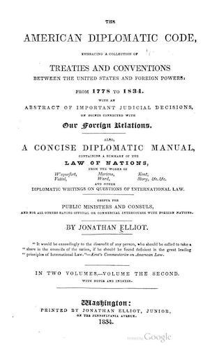 The American Diplomatic Code Vol. 2