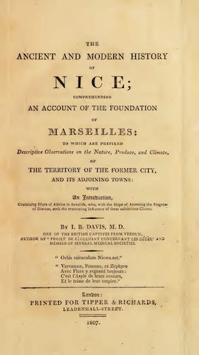The Ancient and Modern History of Nice (1807)