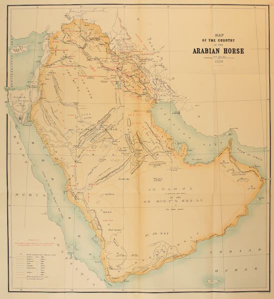 Map of the Country of the Arabian Horse
