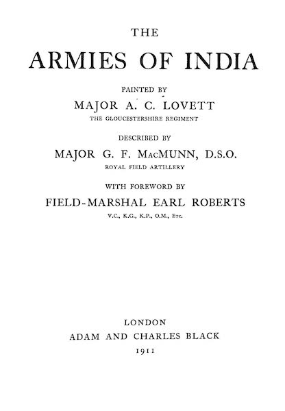 The Armies of India, Painted and Described - Title Page (1911)