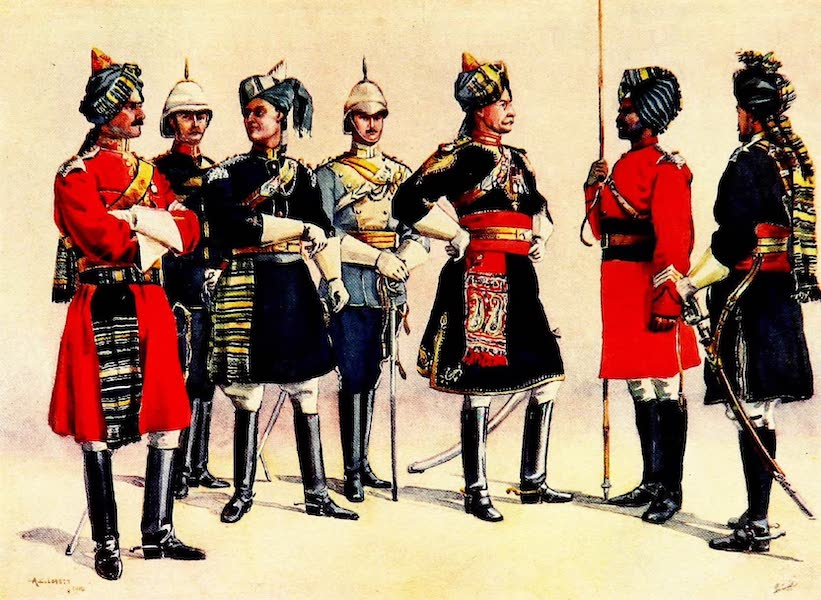 The Armies of India, Painted and Described - British Officers of Indian Cavalry (1911)
