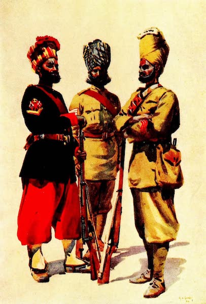 The Armies of India, Painted and Described - 43rd Erinpura Regiment, 44th Merwara Infantry, and 108th Infantry (1911)