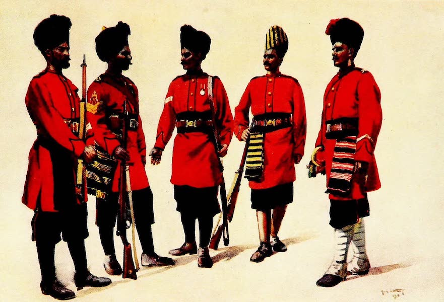 """The Armies of India, Painted and Described - The former """"Hyderabad Contingent"""" Infantry (1911)"""
