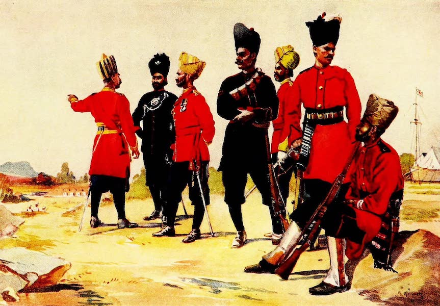 The Armies of India, Painted and Described - Rajputana Infantry (1911)