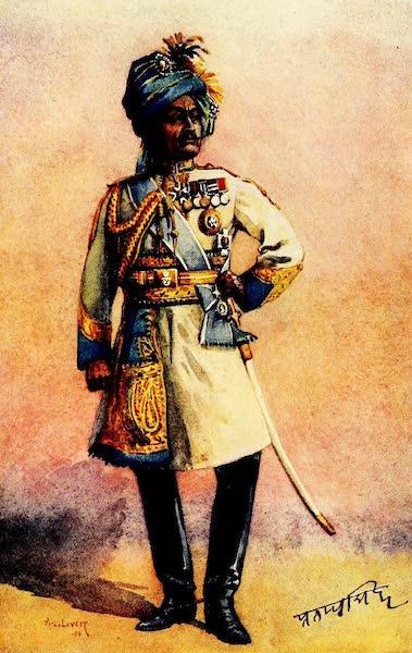 The Armies of India, Painted and Described - Major - General H.H. Maharaja Sir Pratap Singh Bahadur, G.C.S.I., K.C.B. (1911)