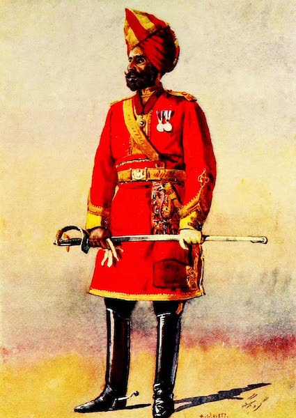 The Armies of India, Painted and Described - Bharatpur Infantry (1911)